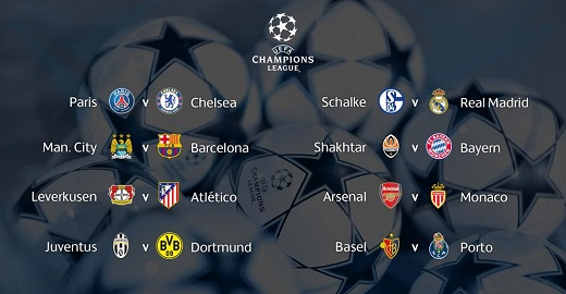 octavos de final champions league 2015