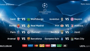 fixture octavos de final champions league 2016