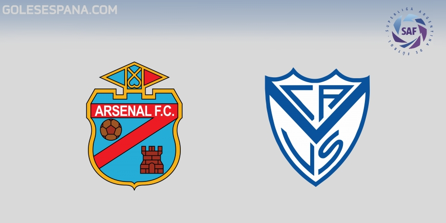 Arsenal vs Vélez en VIVO Online - Superliga 2017-2018 en directo Jornada 20