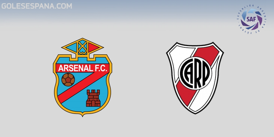 Arsenal vs River en VIVO Online - Superliga 2017-2018 en directo Jornada 24