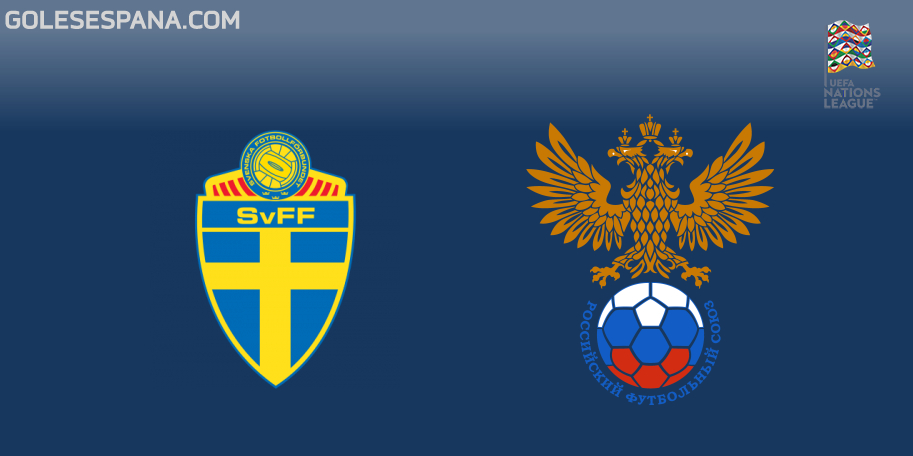 Suecia vs Rusia en VIVO Online - UEFA Nations League 2018-2019 en directo Liga B Grupo 2