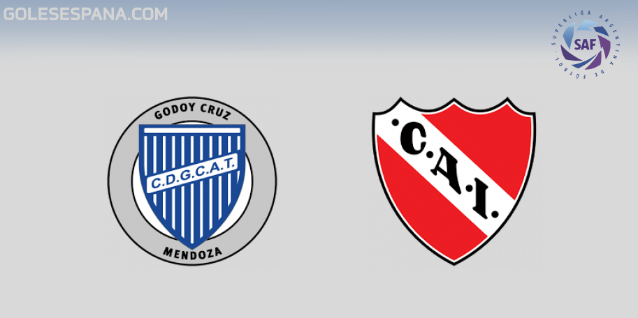 Godoy Cruz vs Independiente en VIVO Online - Superliga 2018-2019 en directo Jornada 15
