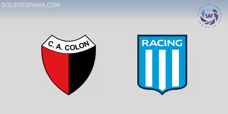 Colón vs Racing en VIVO Online - Superliga 2018-2019 en directo Jornada 22