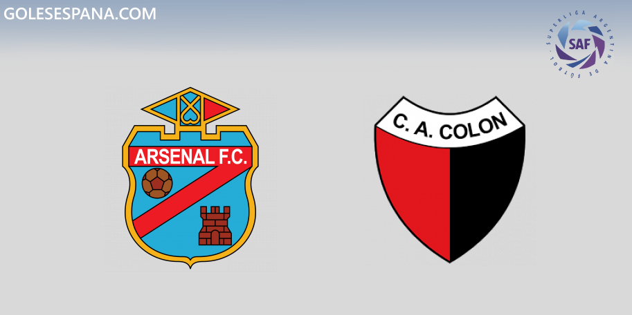 Arsenal vs Colón en VIVO Online - Superliga 2019-2020 en directo Jornada 13